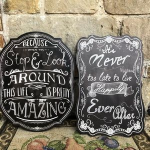 Hobby Lobby Inspiration wall plaques